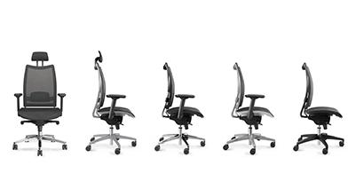 Package mobilier de bureau, chaises Luxy